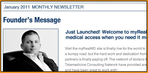 myRealMD Monthly Newsletter